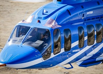 A Bell 525 series helicopter is pictured in a file photo issued by the manufacturer, bearing the designation 'experimental'