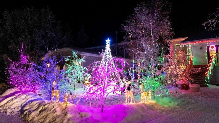 Yellowknife Christmas lights: Lights galore on Dagenais Drive