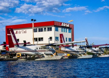 A file photo of the Air Tindi float base in summer