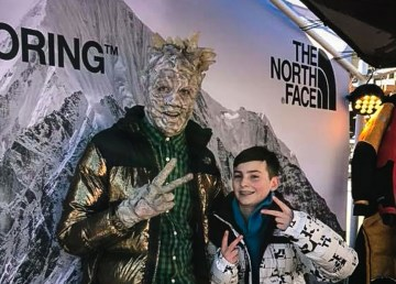 The rock creature from Elijah and the Rock Creature, in full make up, attended Whistler Film Festival in December 2018