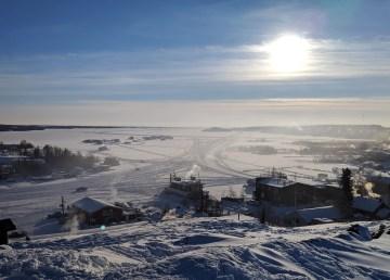 A file photo of Yellowknife Bay in February 2019. Sarah Pruys/Cabin Radio