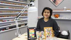 Hannah Duong opened Hannah's Nail Spa in Hay River at the beginning of February. Sarah Pruys/Cabin Radio