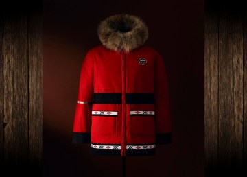 A parka by seamstress Freda Raddi, from Tuktoyaktuk, is shown as part of Canada Goose's new collection