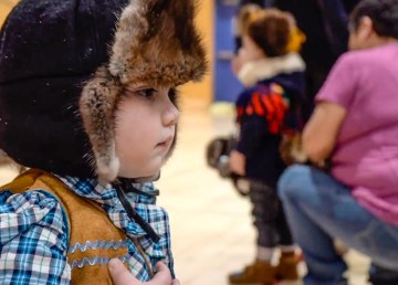 A contestant in Fort Smith's 2019 'little mad trapper' contest