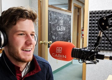 A file photo of Will Gagnon in studio on March 15, 2019. Sarah Pruys/Cabin Radio