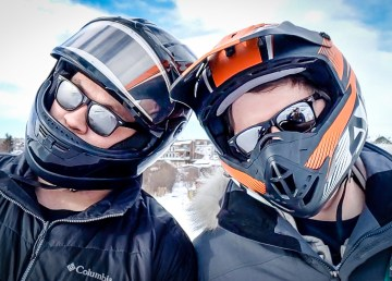Wheeler and Ollie tackle the 2019 Snowking ice slide