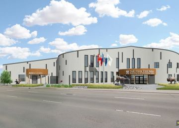 A rendering of the Salt River First Nation conference centre ahead of its grand opening. Salt River First Nation:Facebook