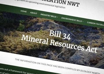 A screenshot of the Responsible Legislation NWT website