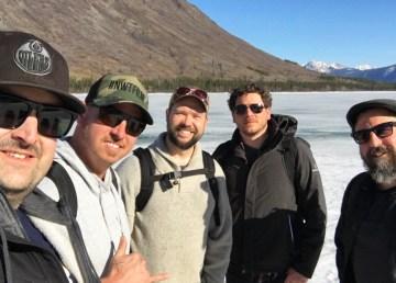 From left: Neil Macdonald, Jay Bulckaert, Jayden Soroka, David Hamelin, and Pablo Saravanja workshopped pilot episode scripts for their Dead North TV show last month