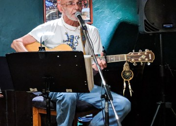 Jim Taylor plays at the Black Knight Pub in Yellowknife