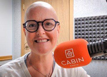 Maureen Tonge in Cabin Radio's Studio Two in June 2019