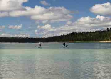 A file photo of Pine Lake in July 2018. Sarah Pruys/Cabin Radio