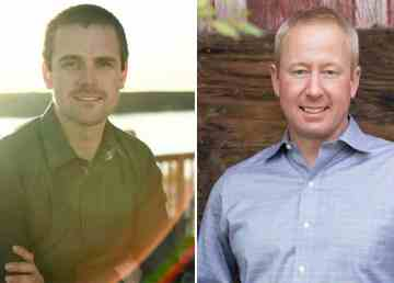 Rylund Johnson, left, and Cory Vanthuyne have both announced their intention to run for MLA of Yellowknife North.