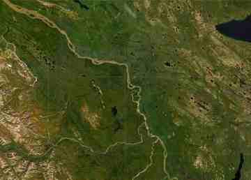 A satellite view of Tulita and the surrounding area