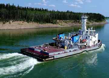 A file photo of Marine Transportation Services' MV Edgar Kotokak
