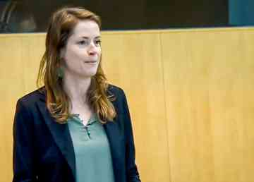 Katrina Nokleby addresses the legislature in October 2019