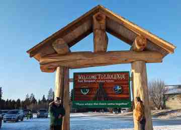 A submitted photo of the new Fort Simpson welcome sign. Kevin Corrigan/Village of Fort Simpson