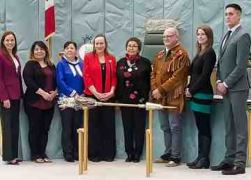 Premier Caroline Cochrane with cabinet members in October 2019