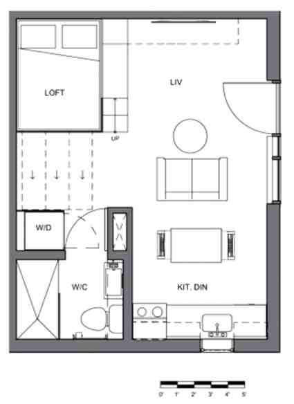 A floor plan of a typical Gem condominium