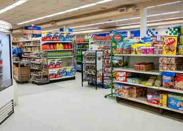 A file photo shows products inside an Inuvik grocery store