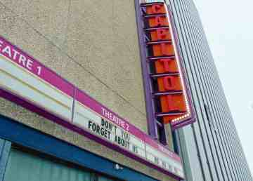 Capitol Theatre's marquee bears a plea not to forget about Yellowknife's only cinema once it reopens