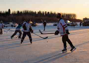 The 2020 Polar Pond Hockey tournament was one of the last organized hockey events before pandemic restrictions came into effect