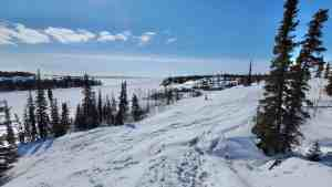 A view of Yellowknife's Tin Can Hill in April 2020