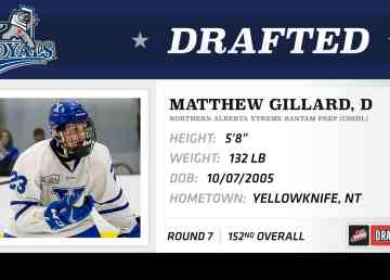 Matthew Gillard is shown in an image tweeted by the Victoria Royals