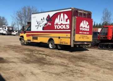 Mark Rowe supplied this photo of a Mac Tools-branded truck in Hay River