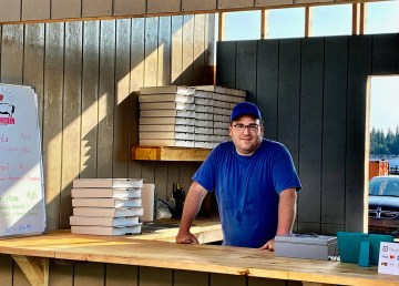Scott Clouthier is ready to roll out the dough for new venture PizzaPig at the Fisherman's Wharf