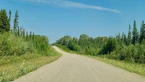 Highway 7 between Blackstone Territorial Park and Fort Simpson in August 2020