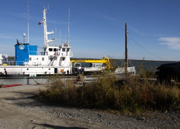 The Nahidik, a repurposed research vessel, carried seven youth from the territory on an expedition out to Great Slave Lake's East Arm