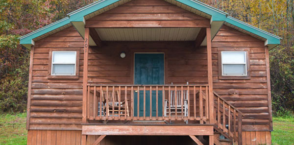 The Cabins at Pinehaven, WV Outdoor Adventure Package, Rustic Cabins