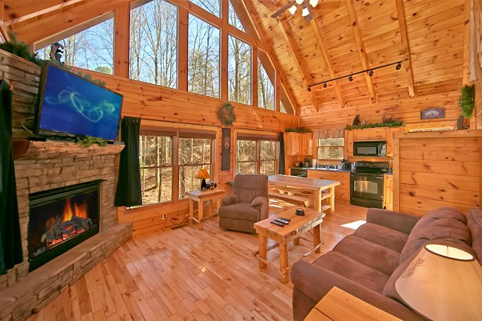 sofa sleeper for cabin red living room design smoky mountains honeymoon | affordable pigeon forge ...