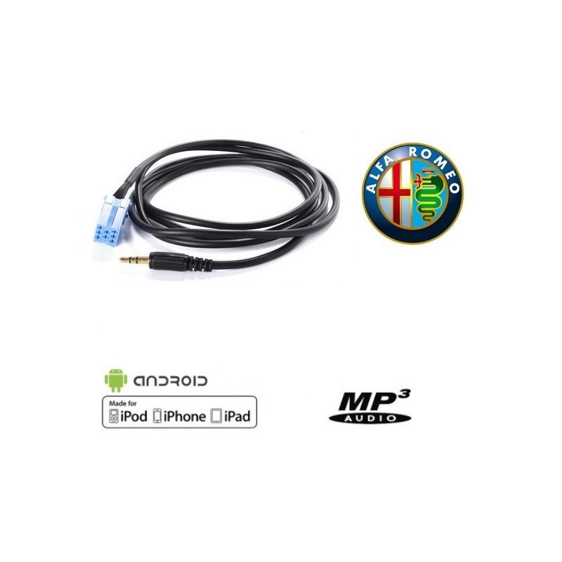 Cable auxiliaire MP3 pour autoradio ALFA ROMEO 147 DE 2002