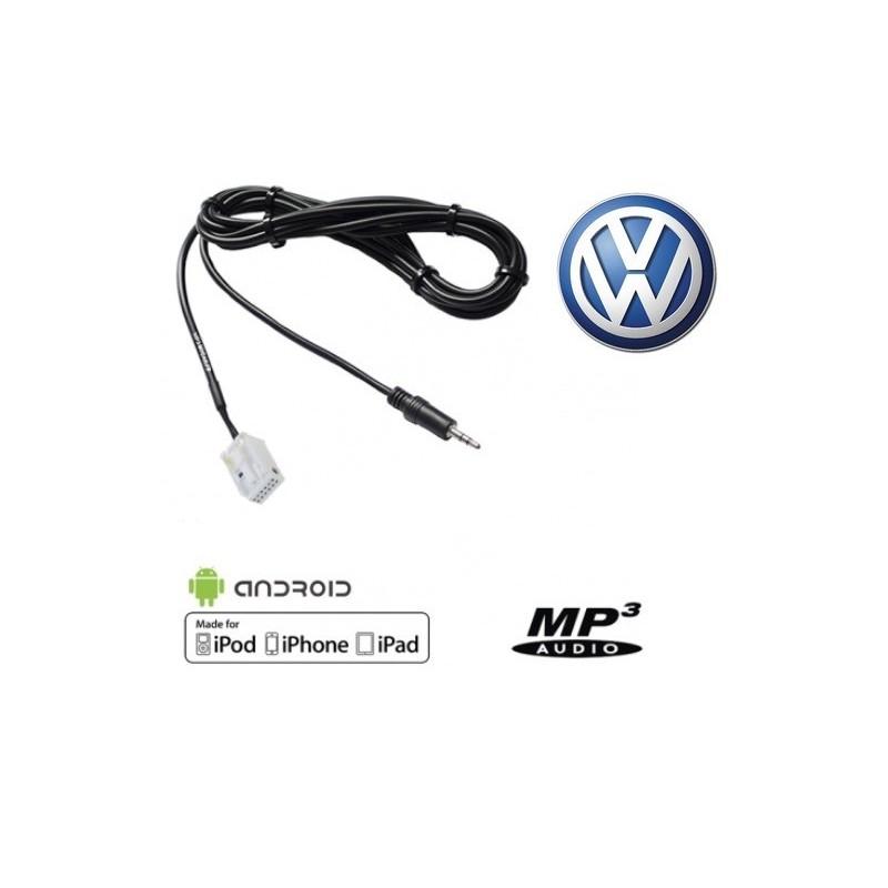 Cable Auxiliaire MP3 pour autoradio Volkswagen RCD210