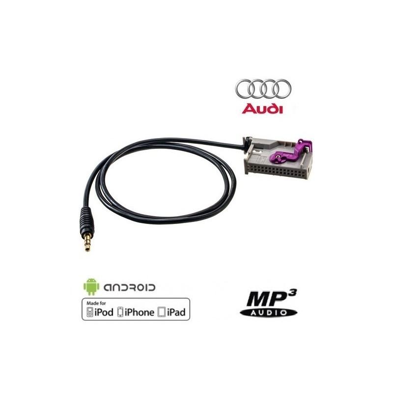 Cable Auxiliaire pour Autoradio GPS Audi RNS-E Navigation