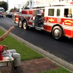 95-Year-Old Surprised with Parade from Fellow Firefighters on His Birthday