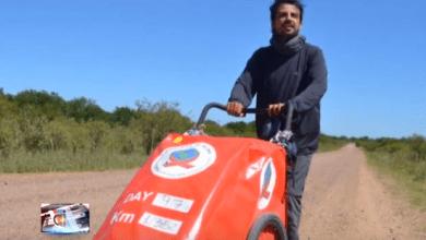 Photo of Un brasilero recorre el mundo a pie para concientizar sobre el SIDA