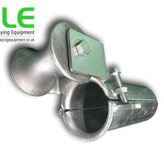 duct bellmouth guide cable roller
