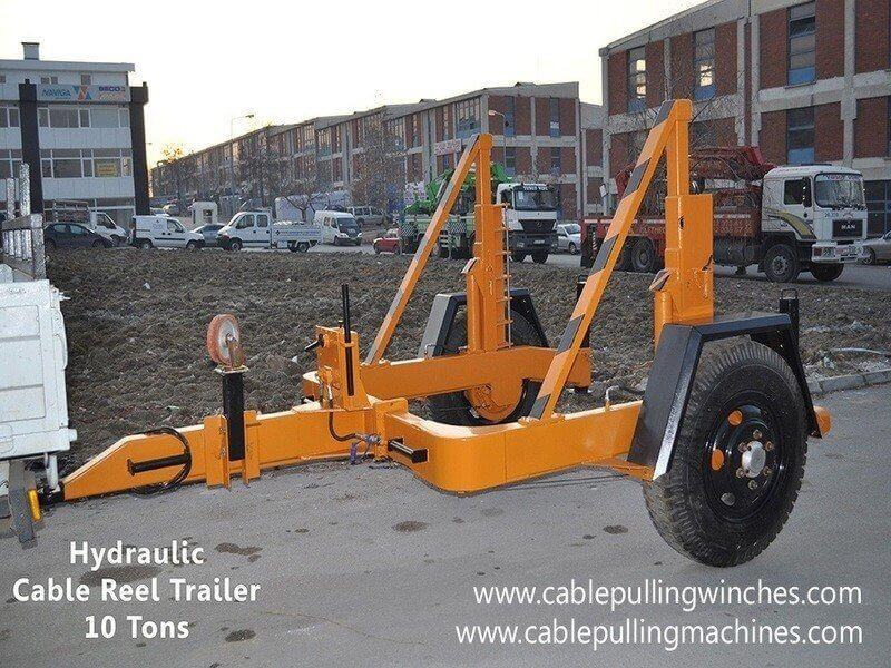 Hydraulic Cable Drum Trailers hydraulic cable drum trailers Hydraulic cable drum trailers a machine with a twist Cable Pulling Machines 103 1