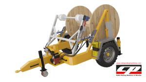 hydraulic cable drum trailers Full Hydraulic Cable Drum Trailers AUTO4 4 Tons Full Hydraulic Drum Trailers 3
