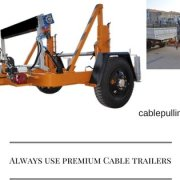 Cable Drum Trailers cable pulling capstan winches Cable Pulling Capstan Winches Cable Trailer