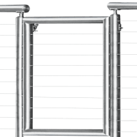 Stainless Steel Gate Kit | Cable Railing Direct