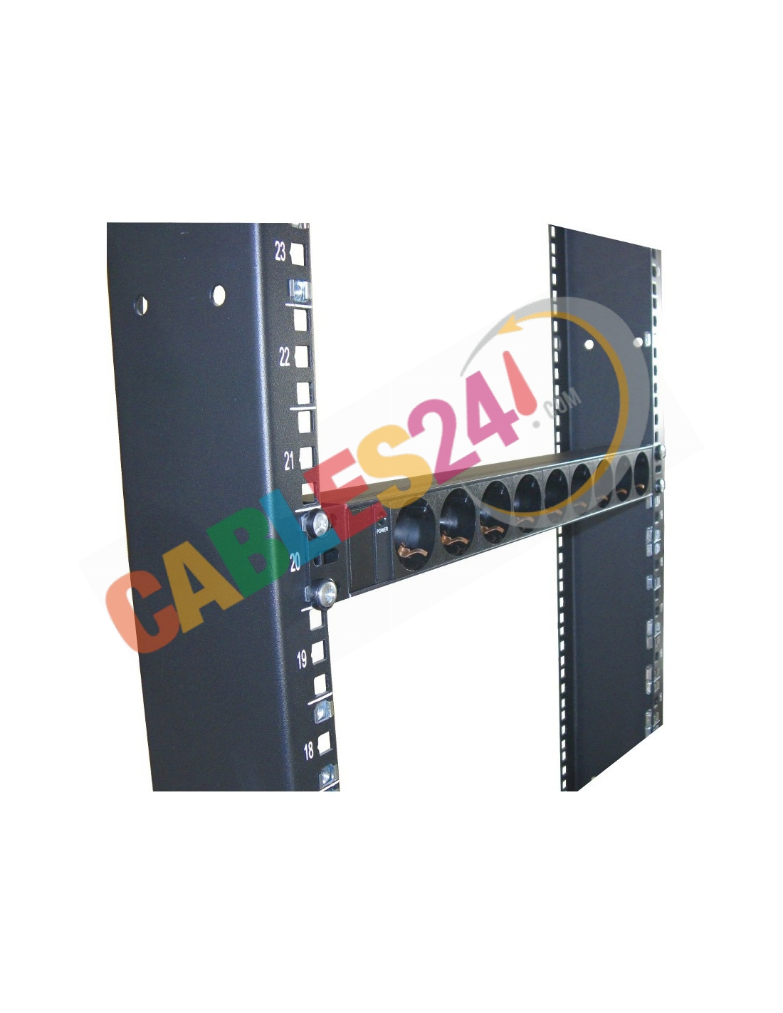 Power Strip Rack 19 inches 9x socket female no switch