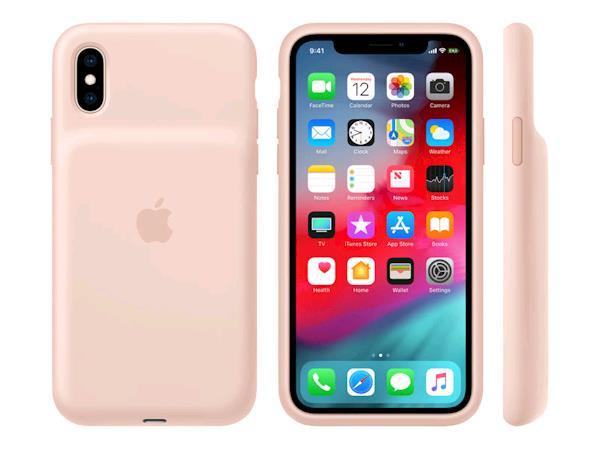 Apple-iPhone-XS-Smart-Battery-Case-Pink-Sand-MVQP2ZM-A