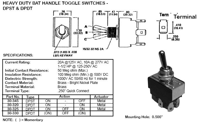 20a Dpdt Momentary Flip Switch Wiring Diagram : 45 Wiring