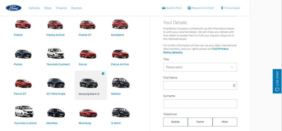 ford contact form