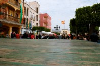 View from the stage into the plaza