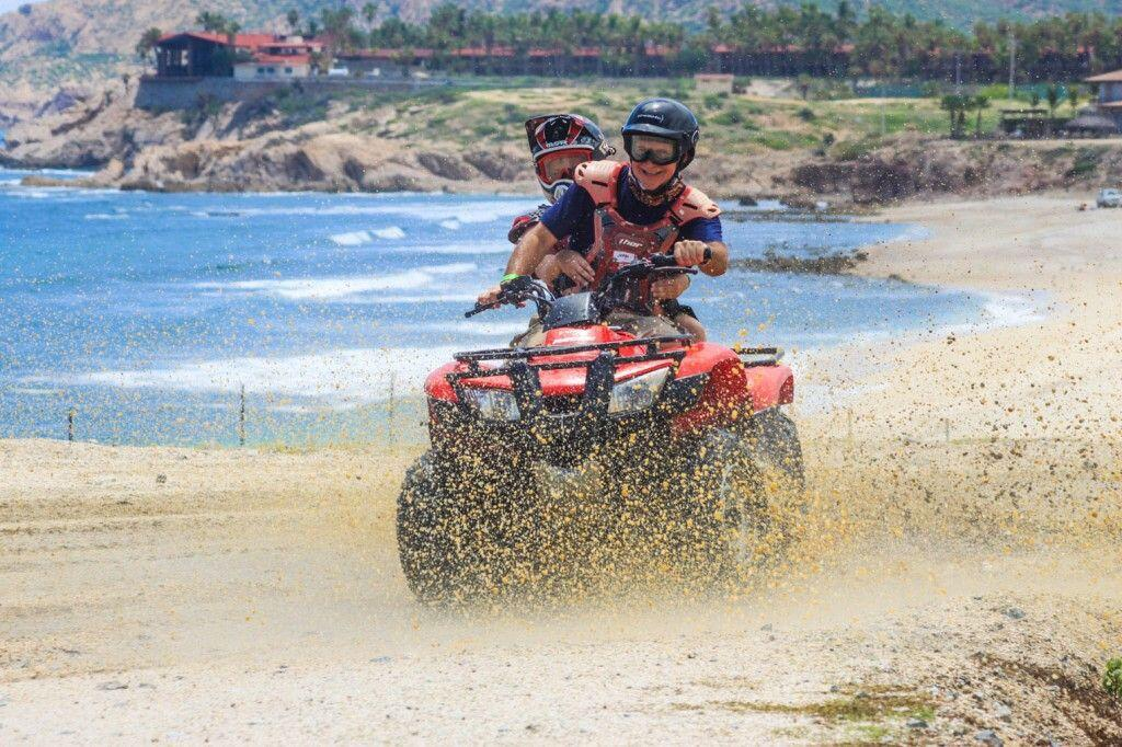 Discount ATV Adventure tours churning up sand on the beach Wild Canyon, Cabo San Lucas, Los Cabos cabo san lucas land tours